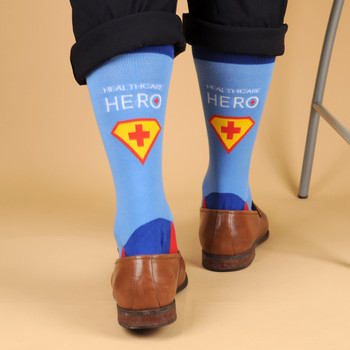 Health Care Heroes -Superheroes- Premium Socks