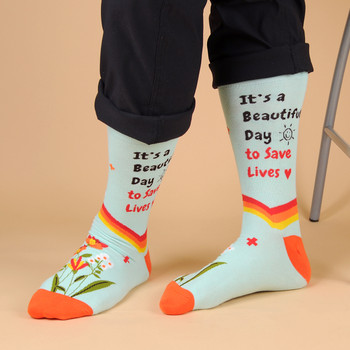 Health Care Heroes -Save Lives- Premium Socks-NVSX2007-BL