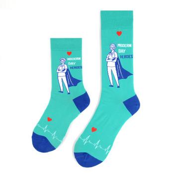 Health Care Heroes -Modern Heroes- Premium Socks - NVSX2008-TL