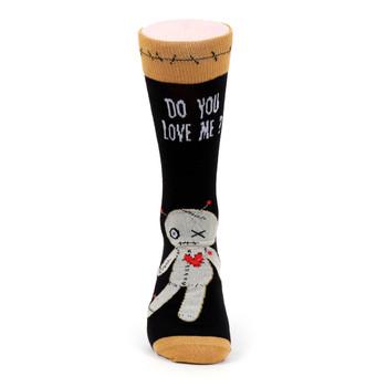 Men's Voodoo Doll Halloween Novelty Socks - NVS19518-BK