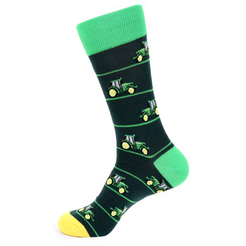 Men's John Deere Tractor Novelty Socks - NVS19519-NVY