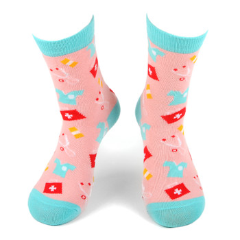 Women's Doctor Novelty Socks - LNVS1748-PK