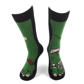 Men's Zombie Feet Novelty Socks - NVS19598-BK