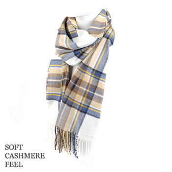 Unisex Acrylic Cashmere Feel Winter Scarves - AS2616