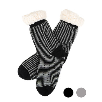 Women's Plush Fleece Lined Sherpa Slipper Socks - WFLS1018
