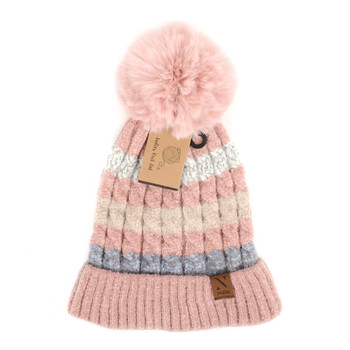 Women's  Pom Pom Knit Winter Hat  - LKH5037