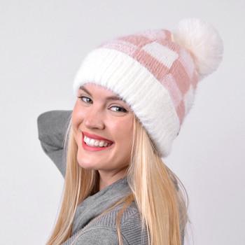 Women's  Pom Pom Knit Winter Hat  - LKH5038