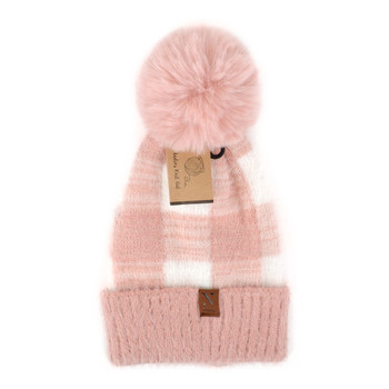 Women's  Pom Pom Knit Winter Hat  - LKH5038