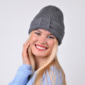 Women's Knotted Knit Winter Hat  - LKH5039