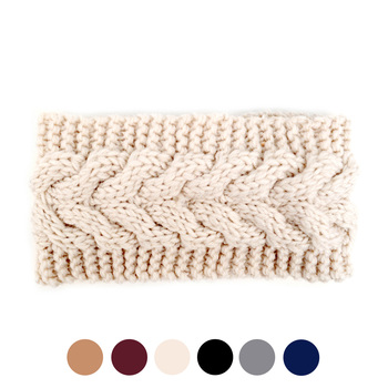 Women's Knit Winter Headband Ear Warmer - H1805040