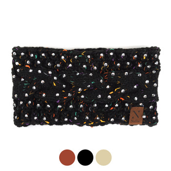 Women's Rhinestone Knit Winter Headband Ear Warmer - WHB5010