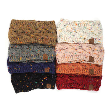 Assorted Colors Women's Knit Winter Headband Ear Warmer - 24PK-WHB5011