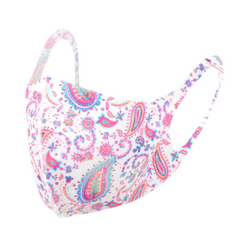 Pink Paisley Print Fashion Face Mask - PPE04