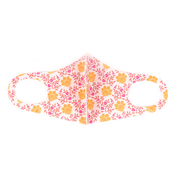 Autumn Flower Pattern Print Face Mask - PPE06