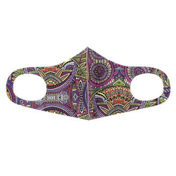 Geometric Flower Print Fashion Face Mask - PPE10