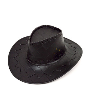 "6pc Pack 3.5"" Brim Cowboy Hat H9312"