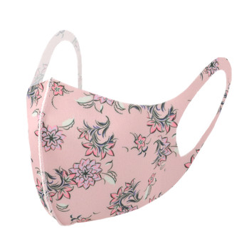 Pink Floral Print Fashion Face Mask - PPE22