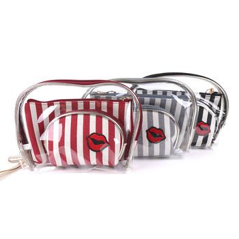 Ladies  Makeup Bag 3pc Set Cosmetic & Toiletry Bags - LNCTB1720