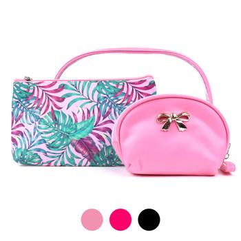 Ladies  Makeup Bag 3pc Set Cosmetic & Toiletry Bags - LNCTB1722