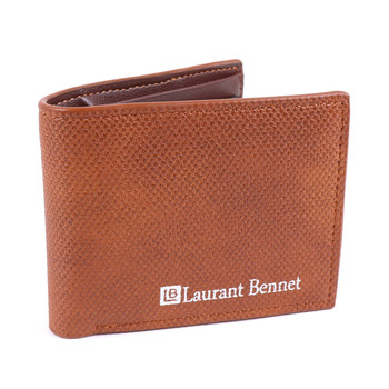 Men's Bi-Fold Brown Leather Wallet - MLW04163BR_N