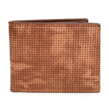 Men's Bi-Fold Brown Leather Wallet - MLW5194BR_N