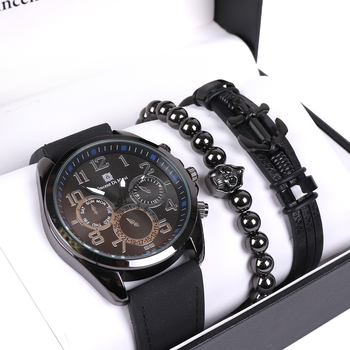 Men's Watch & Bracelet Gift Set - MWBB1018-1