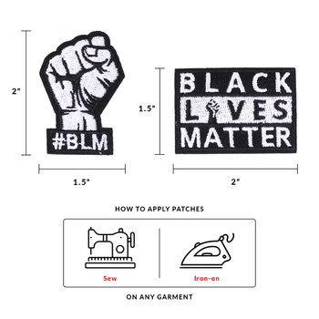 Iron on BLM Fabric Patches- BLMPatches