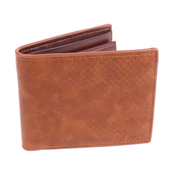 Men's Bi-fold Leather Cognac Wallet - MLW5203