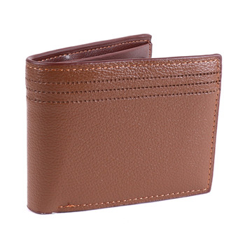 Men's Bi-fold Brown Leather Wallet - MLW5210