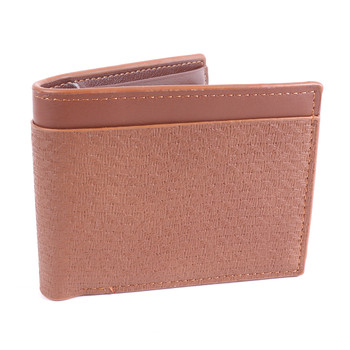 Men's Bi-fold Light Brown Leather Wallet - MLW5213