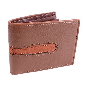 Men's Brown Striped Bi-fold Wallet - MLW5215