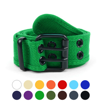 Men's Double Grommet Hole Canvas Belt -CANB1301
