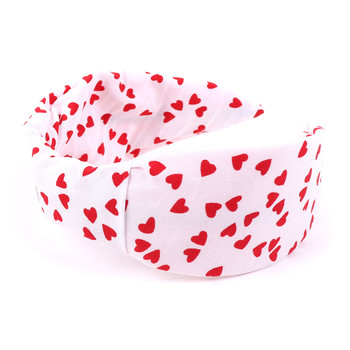 "White and Red Heart ""C"" Shaped Head Band - PHB1011"