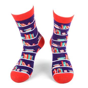Women's Stack of Books Novelty Socks - LNVS19435