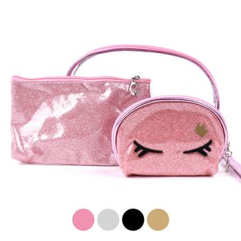Ladies Makeup Bag 3pc Set Cosmetic & Toiletry Bags - LNCTB1723