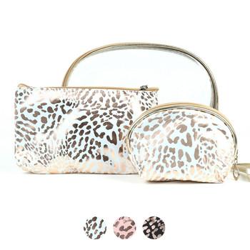 Ladies  Makeup Bag 3pc Set Cosmetic & Toiletry Bags - LNCTB1721