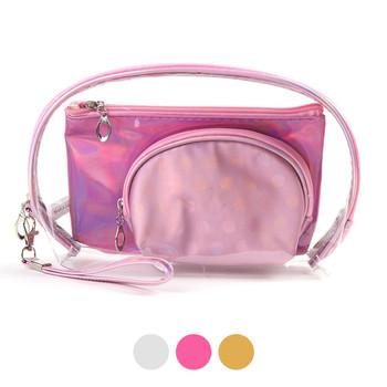Ladies  Makeup Bag 3pc Set Cosmetic & Toiletry Bags - LNCTB1724