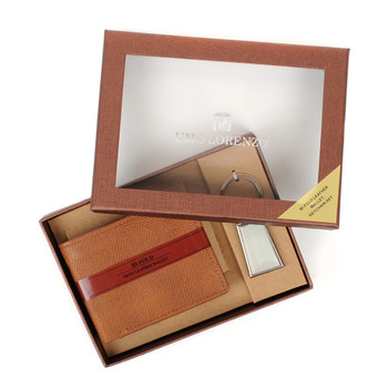 12pc Assorted Pack Wallet & Keychain Sets WK1000-BROWN