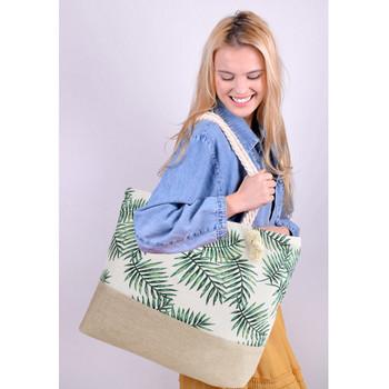 Palm Tree Leaves Summer Ladies Tote Bag - LTBG1221