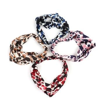 12pc Assorted Criss Cross Leopard Headbands - 12EHB1024
