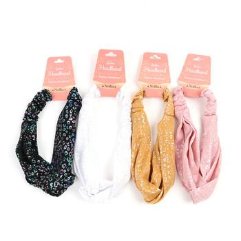 12pc Assorted Sparkle Cheetah Print Headband - 12EHB1027