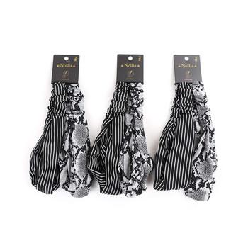 6pc Snakeskin and Striped Headbands- 2EHB2001