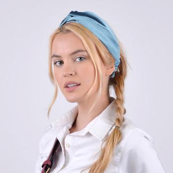 2pc Criss Cross Blue Headbands