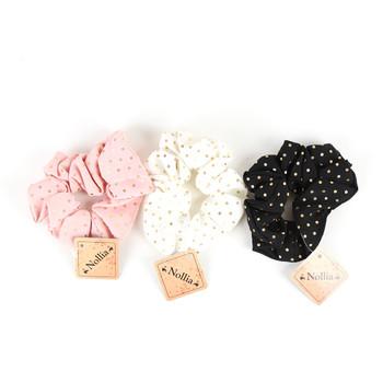 12pc Assorted Polka Dot Hair Scrunchies