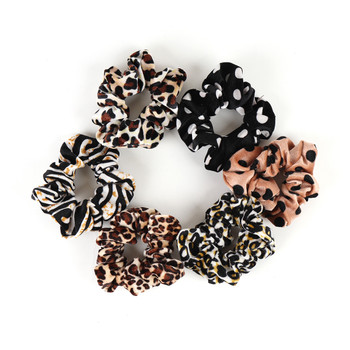 12pc Assorted Animal Print and Polka Dot Hair Scrunchies