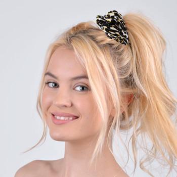 12pc Assorted Animal Print and Polka Dot Hair Scrunchies