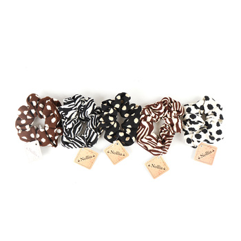 12pc Animal Print Hair Scrunchies