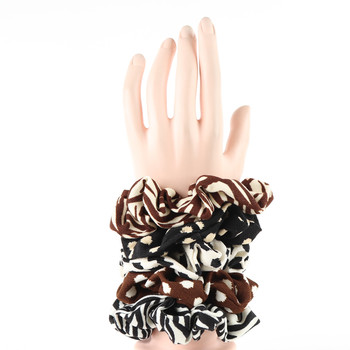 12pc Animal Print  Hair Scrunchies - 12SHS-SLD-6