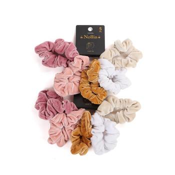 10pc Velvet Solid Color Hair Scrunchies - 5SHS-SLD2