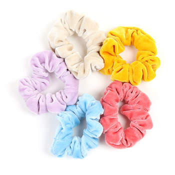 5pc Spring/ Summer Solid Color Scrunchies - 5SHS-SLD3